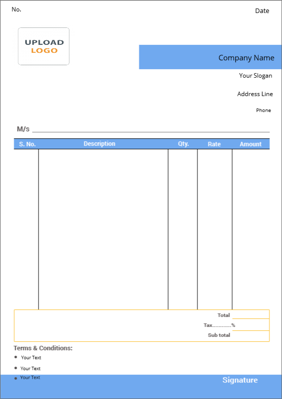 Products – Bill Book Template